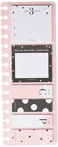 Charuca SN02 - Set de notas adhesivas con diseño Pink, color rosa