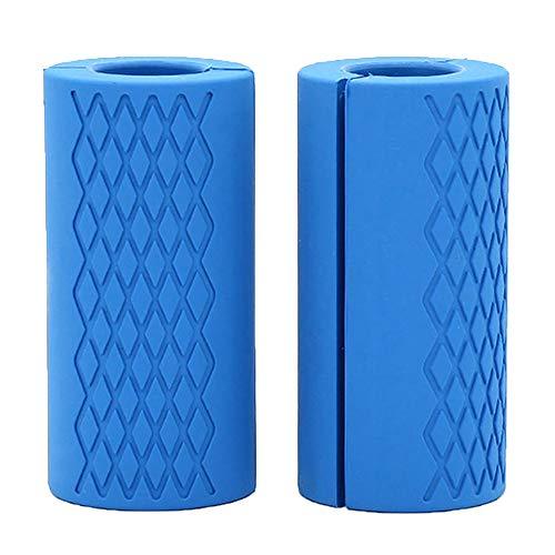Weikeya Grip Dicke Hantelgriffe Silikon Thick Bar Grips für Kurzhanteln Handgelenk, Unterarm Krafttraining, Vorarme und Greifkraft, 2 Stück(Blau)