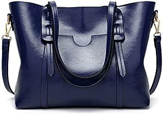 AMERTEER Women Briefcase Laptop Tote Bag Vintage Leather Handbags Shoulder Purses Top Handle Satchel Daily Work Shoulder Bag Large Capacity 15.6 inch