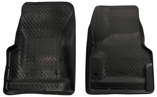 Husky Liners 31731 Fits 1997-06 Jeep Wrangler Classic Style Front Floor Mats,Black