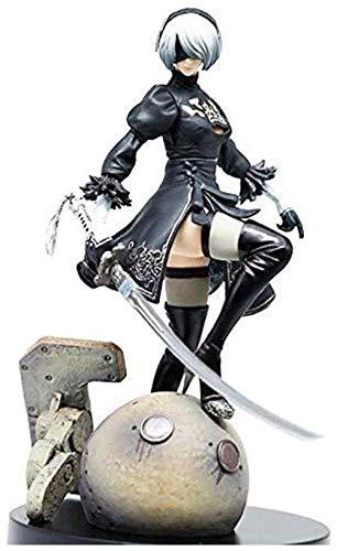 KIJIGHG Action Figure Nier: Automata Yorha No.2 Tipo B 2B PVC Figure Anime Cartoon Character Modello 15CM