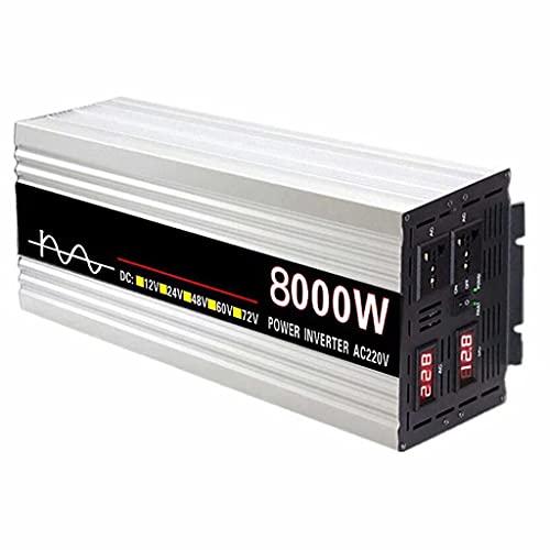 Inversor Pure Sinus 8000w convertidor de Voltaje DC 24V AC 220V convertidor de Potencia para automóvil con enchufes y Pantalla Digital...