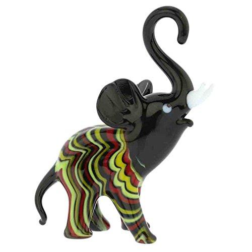GlassOfVenice Murano Glass Festooned Elephant