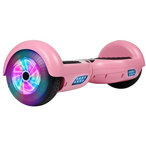 Best Deals! Felimoda Hoverboard 6.5 inch w/LED Wheels Side Lights- UL2272 Certified (Pink)