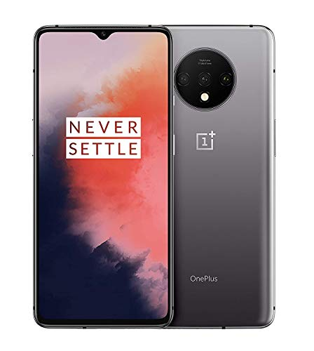 OnePlus 7T Dual-SIM 128GB 8GB RAM (GSM, CDMA) Factory Unlocked 4G LTE Android Smartphone - International Version (Frosted Silver) (Renewed)