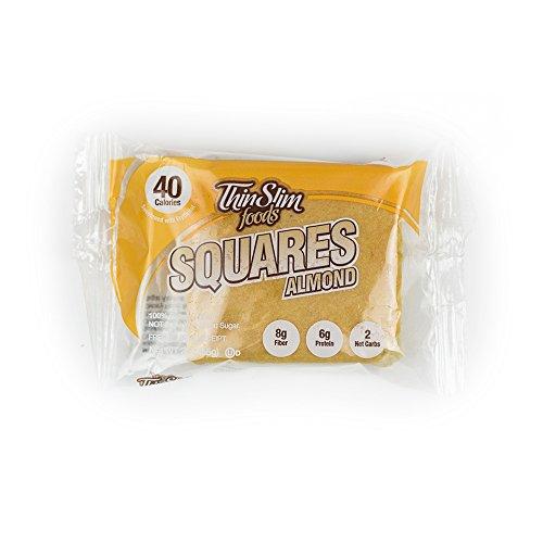ThinSlim Foods Low Carb Keto Lemon Squares - Low Calorie 4 Pack
