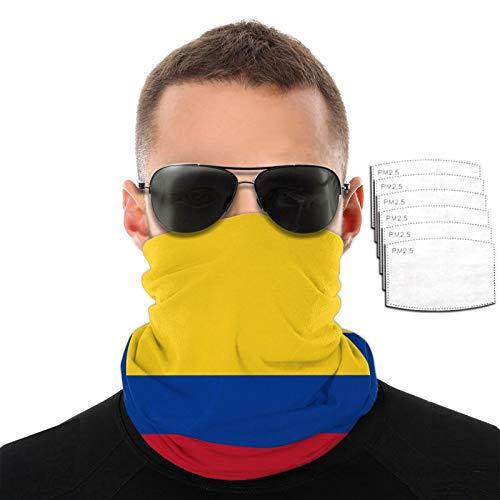 Bandera de Colombia filtro reemplazable y lavable, adecuado para correr, ciclismo, actividades al aire libre
