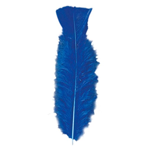 NET TOYS 50 Piume Blu Lunghe Circa 10 cm Decorazione Ornamentale Carnevale Rio copricapi di Penne - 10 cm