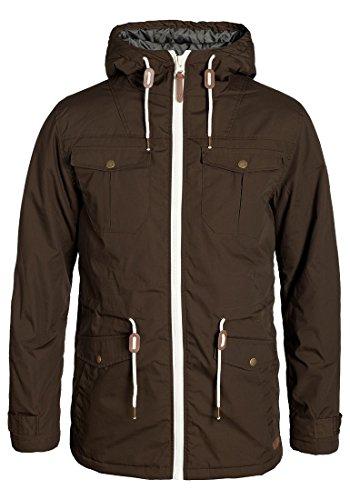 !Solid Tilas Herren Übergangsjacke Parka Mantel Lange Jacke Mit Kapuze, Größe:M, Farbe:Coffee Bean (5973)