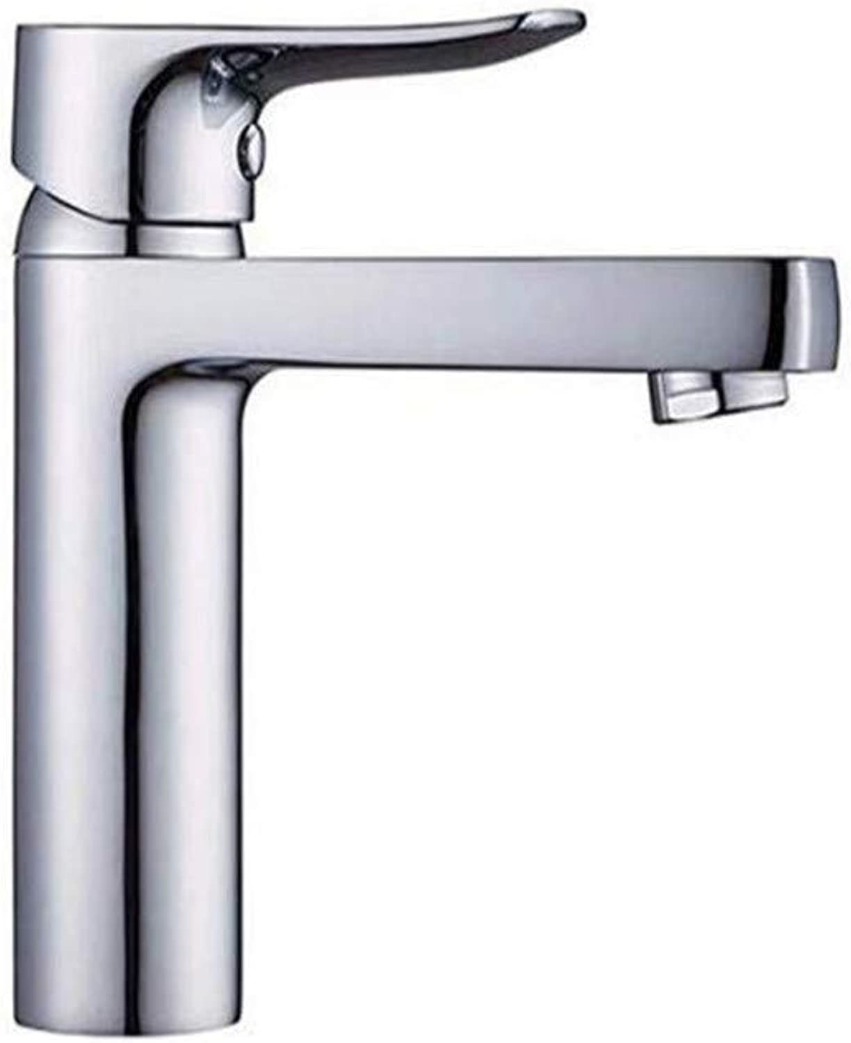 Faucetbasin Faucet Bathroom Sink Tap Copper Single Hole Single Handle Hot and Cold Water Faucet Seat Type Ceramic Valve Core Kitchen Bathroom Basin Faucet Bathroom Faucet