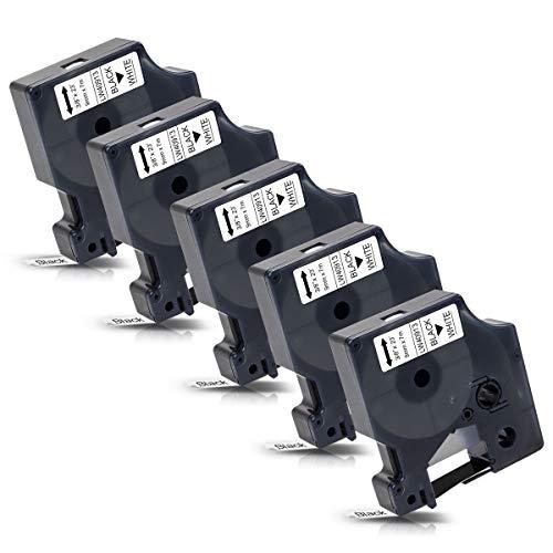 5x Labelwell Reemplazo Dymo D1 40913 Negro blanco
