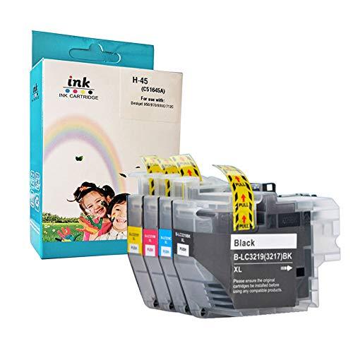 3219XL 3217XL Cartucho de tinta compatible de alto rendimiento, nuevo chip para Brother MFC-J5330DW MFC-J5335DW MFC J5730DW MFC-J5930DW MFC-J6530DW (4 paquetes)