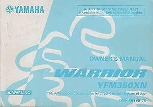 2001 YAMAHA ATV WARRIOR YFM350XN OWNERS MANUAL 5NF-28199-70 (523)