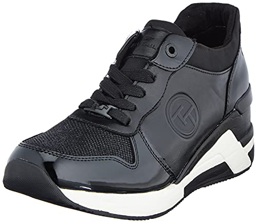 TOM TAILOR Damen 2192612 Sneaker, Black, 40 EU