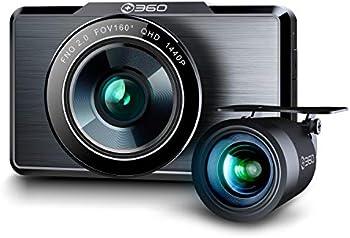+ 360 Premium 2K Dual Dash Camera with 32G SD Card