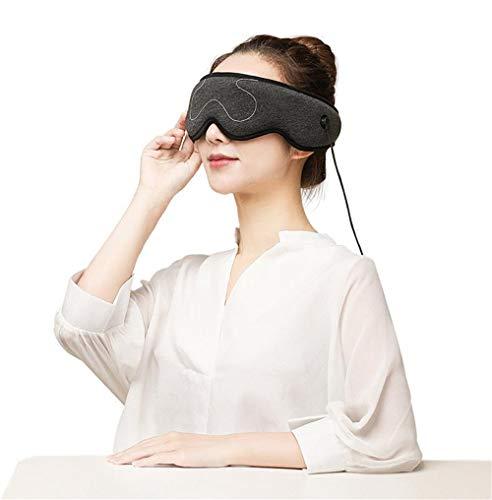 Beheizte Augenmaske - Elektrische Heizkissen Augenmaske Fern-Infrarot-Therapie Einstellbare Temperatur,Sleeping USB...