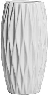 Hetoco 20cm Blanco Decorativos Modernos Ceramica Jarrones de Flores para Mesa de Comedor Sala de Estar Idea Regalo para Cu...
