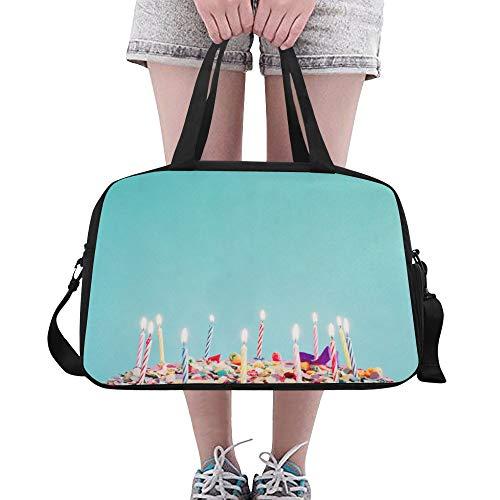 Alles Gute zum Geburtstag Jubiläum benutzerdefinierte große Yoga Gym Totes Fitness Handtaschen Reise Seesäcke mit Schultergurt Schuhbeutel für die Übung Sport Gepäck für Mädchen Herren Damen Outdoor