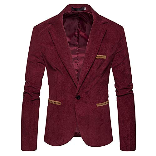 MEIbax Herren Herbst Winter Cord Schlank Langarm Mantel Anzug Jacken Casual Blazer Top Mäntel Anzüge Sakkos
