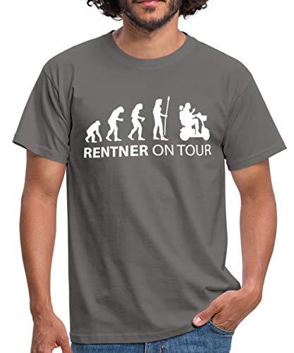 Rentner on Tour Männer T-Shirt, XL, Graphit