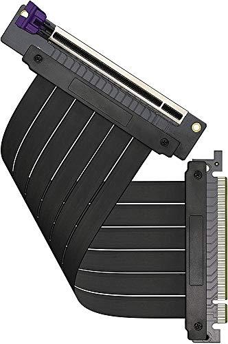 Cooler Master MasterAccessory Riser-Kabel PCIe 3.0 x16 V2 - EMI-geschirmtes, ultra-flexibles TPE-Kabel, verstärkte PCI-Steckplätze, Gold-Pin-Anschlüsse, schützendes ABS-Gehäuse - 200 mm