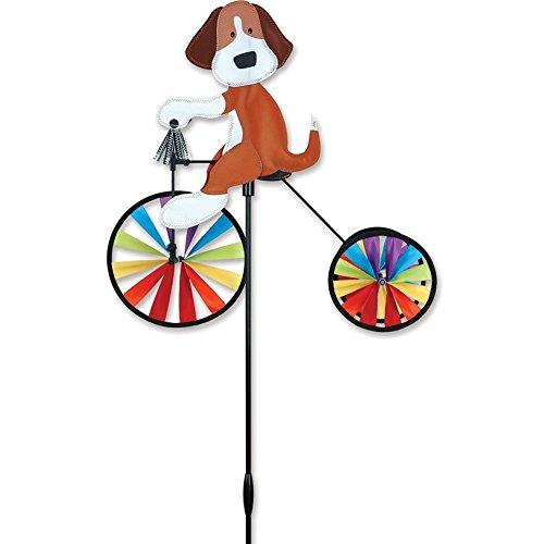Dreirad Biker HUND - Windräder: Ø 20cm - 2x15cm Motiv: 50cm x 48cm