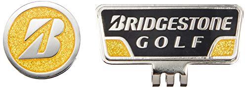 BRIDGESTONE(ブリヂストン) ゴルフ マーカー キャップマーカー GAG401 BY(黒/黄) ゴルフ マーカー