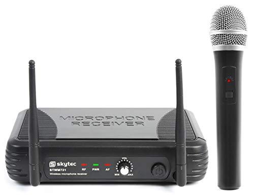 Skytec STWM721 draadloze Microfoon UHF met Diversity