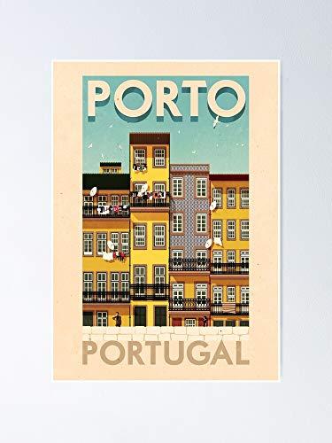 AZSTEEL Carteles de viaje - Porto Portugal Poster