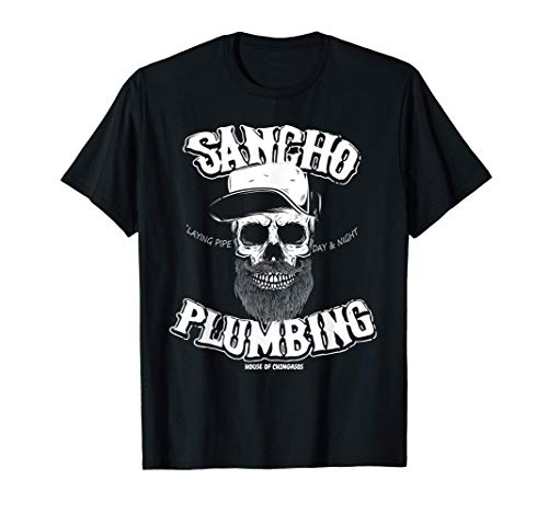 Sancho Laying Pipe Day And Night Plumbing T-Shirt
