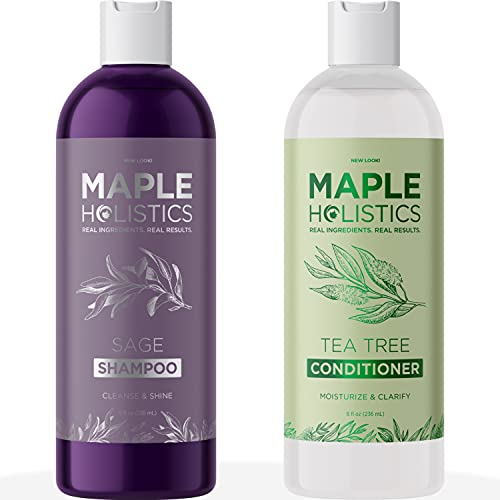 Dry Scalp Shampoo and Conditioner Set - Cleansing Conditioner and Clarifying Shampoo for Build Up and Dry Flaky Scalp Care - Sulfate Free Color Safe Shampoo and Conditioner for Damaged Dry Hair Care