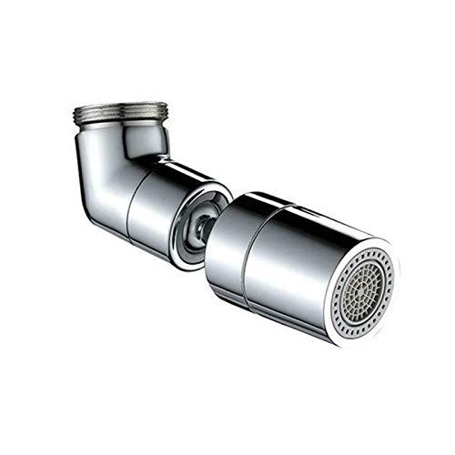 Grifo Universal Con filtro Giratorio De 720 °, Grifo De Salida De Agua Grifo Con filtro Antisalpicaduras Rosca Macho De 24 mm Para Baño Cocina (B)