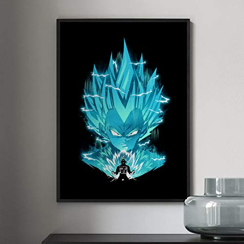 Li han shop Dipinti su Tela Decorativi per La Casa Nordic Dragon Ball Super Vegeta Son Pictures Wall Art Poster Modulare Stampato per Soggiorno 50X70Cm