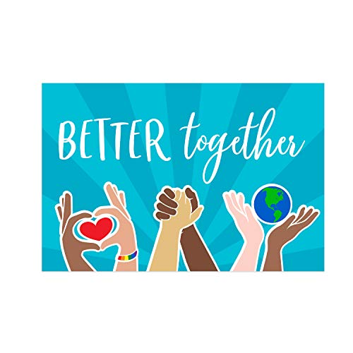 Better Together Unity Yard Sign / 18' x 12' Inspirational Outdoor Sign/Spread Kindness Plastic Sign