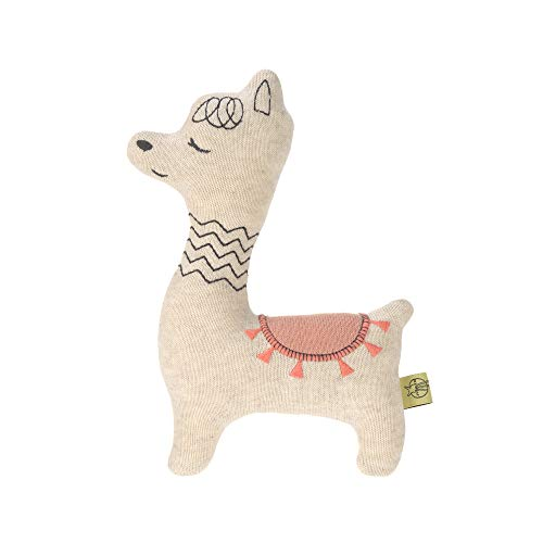 LÄSSIG Baby Kuscheltier Strick/Knitted Toy Glama Lama, rosa