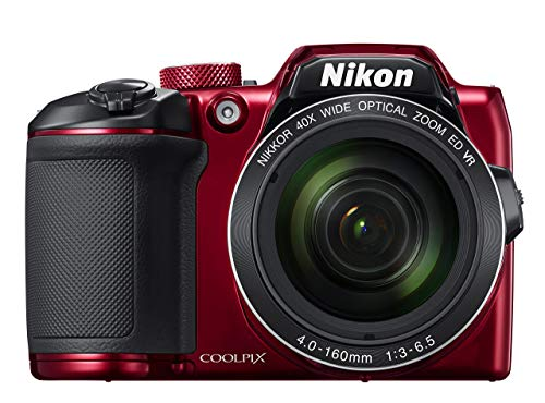 Nikon COOLPIX B500 16MP Digital Camera with 3 Inch TFT LCD Screen Nikkor Lens With 40x optical zoom wifi, Red (Renewed)