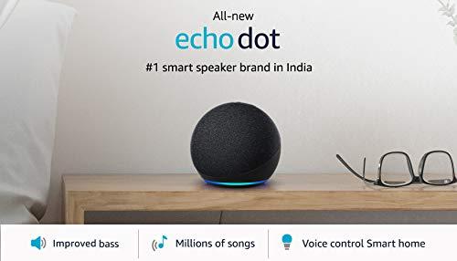 All-new Echo Dot (4th Gen) | #1 smart speaker brand in India with Alexa (Black)