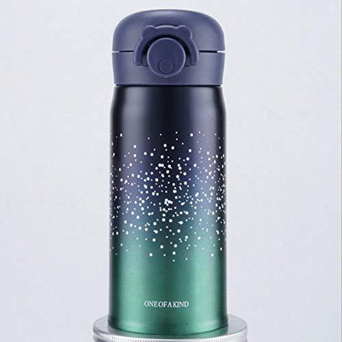 50/500ML Sterrenhemel RoestvrijstalenThermoskanKoffiemok Reisbeker ThermosflesGeschenken Thermocup nieuw, groen, 500 ml