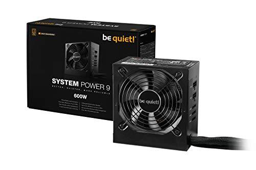 be quiet! System Power 9 ATX PC Netzteil 600W cm | BN302 schwarz mit Kabelmanagement