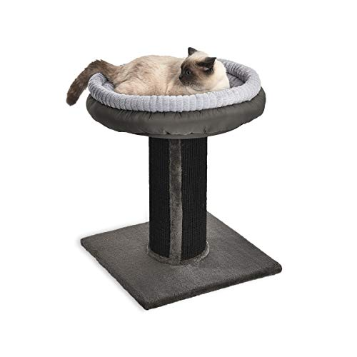 Space Saving Cat Tree - Minimalistic Cat Tree With Scratching Post And Cat Bed