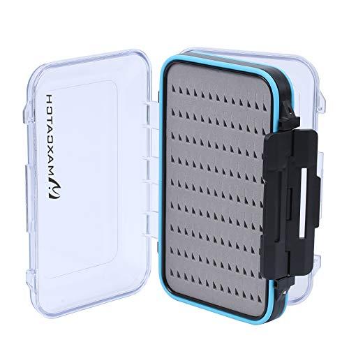 M MAXIMUMCATCH Maxcatch Waterproof Fly Box Double Clear Lid Fly Fishing Box Easy Grip Foam (Foam Insert, X-Small-4.1''x 3''x 1.2'')