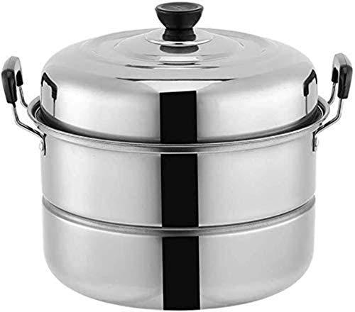 XY-M Vaporizador de Acero Inoxidable 2-Capa cocinado COBRICIDO COBRICIDE Conjunto DE Industrial HOB Gas Universal SOOP Pot (Tamaño: 28 cm)