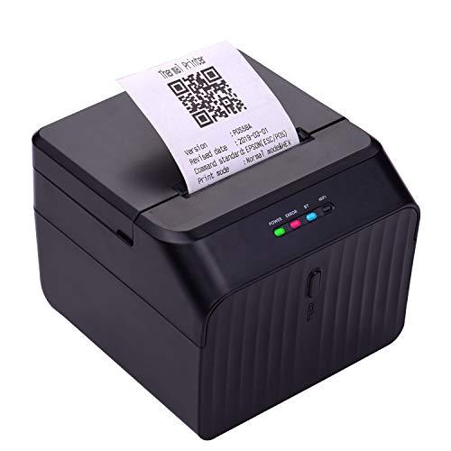 Aibecy58mm Thermodrucker Bondrucker Etikettendrucker Belegdrucker Barcodedrucker USB-Verbindung mit 2 Rollen Papier im Inneren Unterstützung ESC / POS-Befehl Kompatibel mit Windows Android IOS