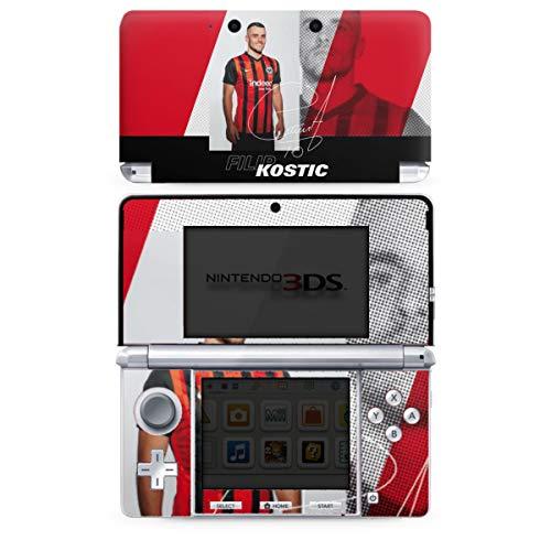 DeinDesign Skin Aufkleber Sticker Folie kompatibel mit Nintendo 3 DS Filip Kostic Fußball Eintracht Frankfurt