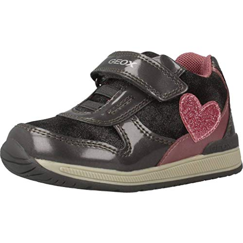 Geox B RISHON Girl B, Zapatillas Niñas, (Grey/Pink C0502), 20 EU