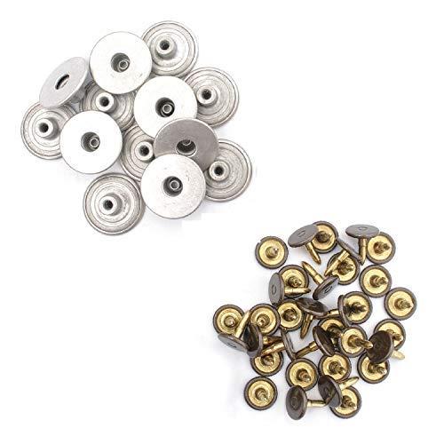 Trimming Shop Zilver 22mm Metalen Jeans Knopen Tack Bevestigingsmiddelen met Terug Pin voor Kleding Reparatie, Denims, Jassen