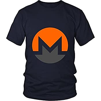 Monero T-Shirt - Official Monero Logo Support XMR Your Favorite Cryptocurrency Navy