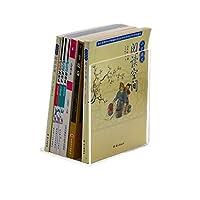 ブックエンド 装飾 学生のデスクトップファイルの透明なL字の縦の垂直の本スタンド (Color : A pair of L-shaped bookends)