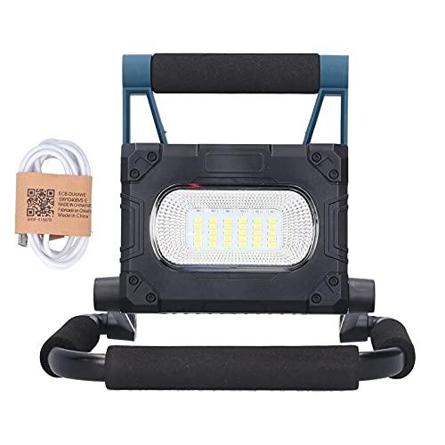 Luz de trabajo 36LED-Lámpara de camping de emergencia magnética portátil solar con carga USB Luz de inundación multifunción 30W