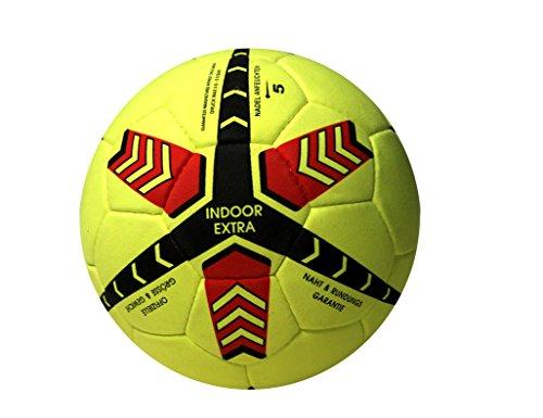Lisaro Indoor-Fußball Gr. 5 aus Echt Veloursleder | Hallenfußball | Hallenball | Indoorfußball | Spielball der Extraklasse